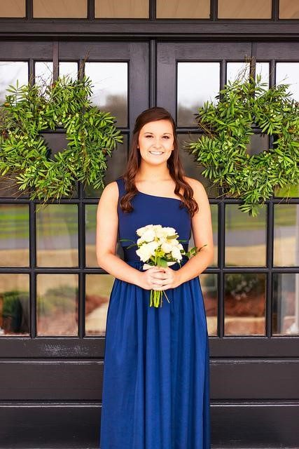 navy blue for bridesmaid