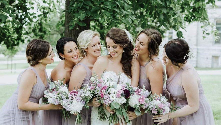 purple grey for bridesmaid