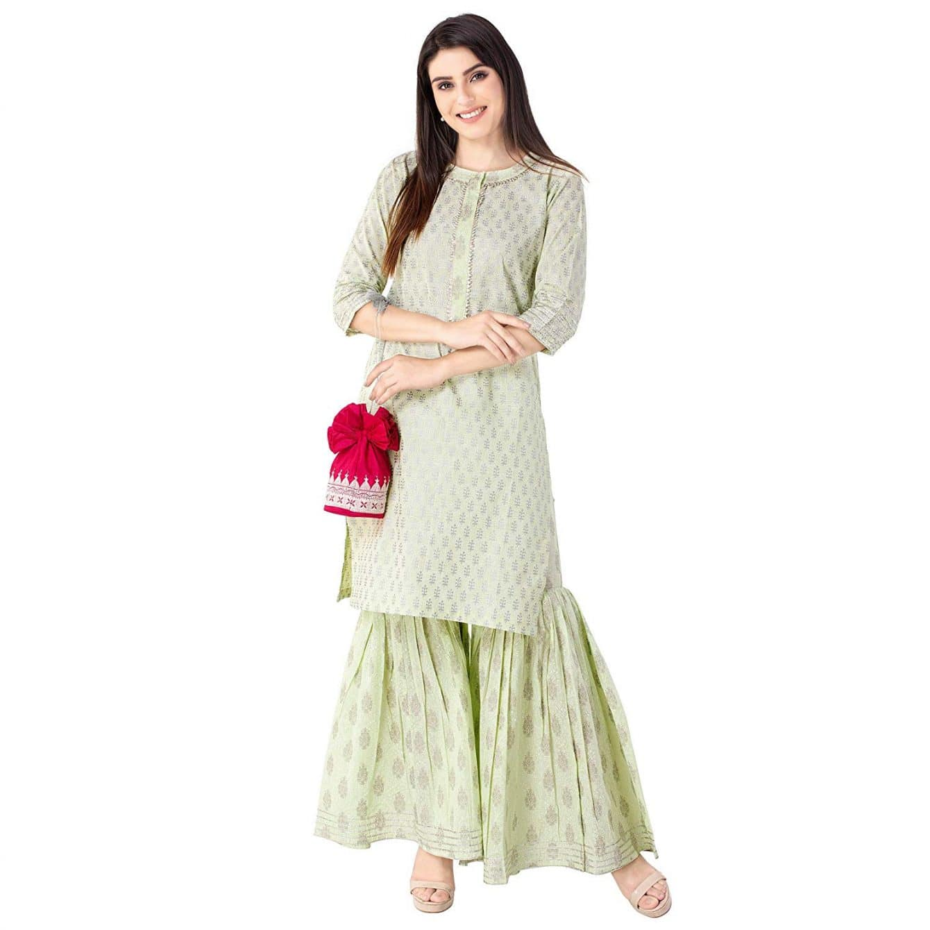 Women's cotton sharara suit