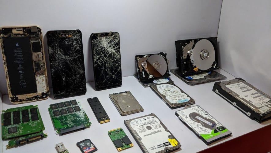 broken, damaged, wet, burnt & cracked disks