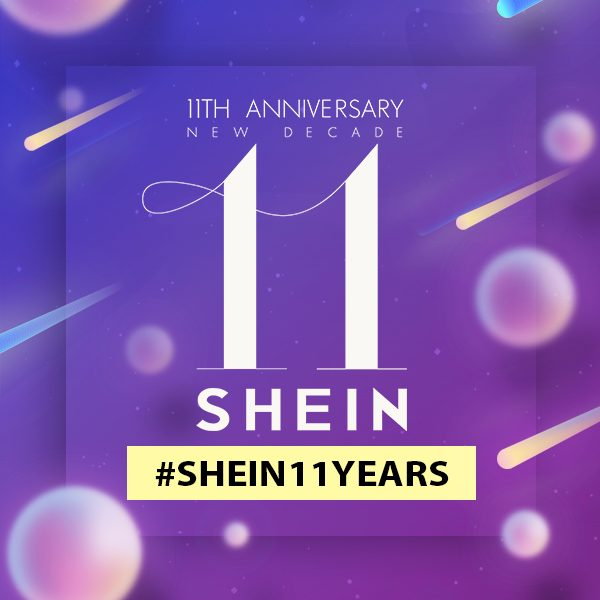 SHEIN 11 YEARS happy birthday